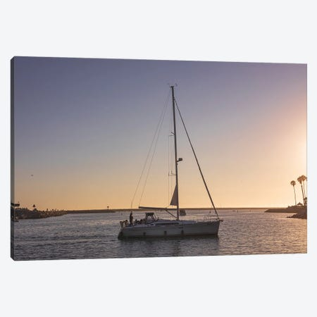 Sailboat At Sunset Canvas Print #AFK127} by Alison Frank Canvas Art Print