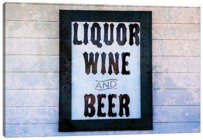 Liquor Wine And Beer Canvas Art Print
