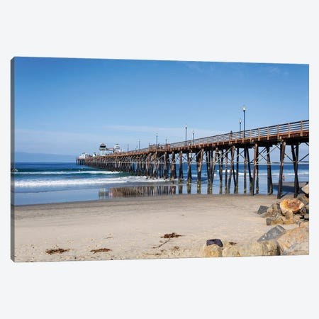 Oceanside Pier Canvas Print #AFK20} by Alison Frank Canvas Art