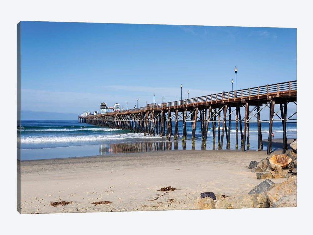 Oceanside Pier by Alison Frank 1-piece Canvas Print