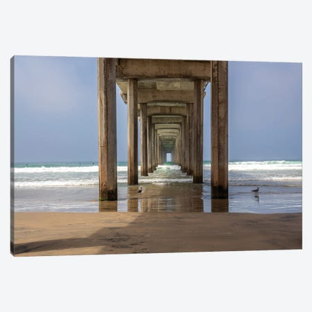 Scripps Pier Canvas Print #AFK29} by Alison Frank Canvas Wall Art