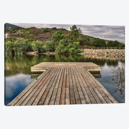 Dock In The Morning Canvas Print #AFK46} by Alison Frank Art Print
