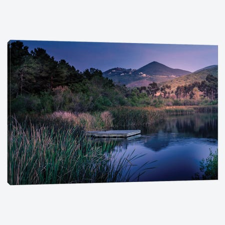 Evening At The Lake Canvas Print #AFK49} by Alison Frank Canvas Artwork