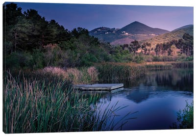 Evening At The Lake Canvas Art Print
