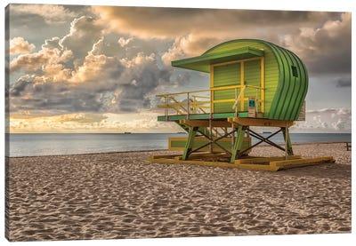 Green Lifguard Stand Canvas Art Print
