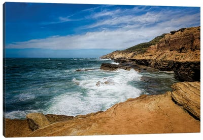 At The Edge Of The Cliffs Canvas Art Print