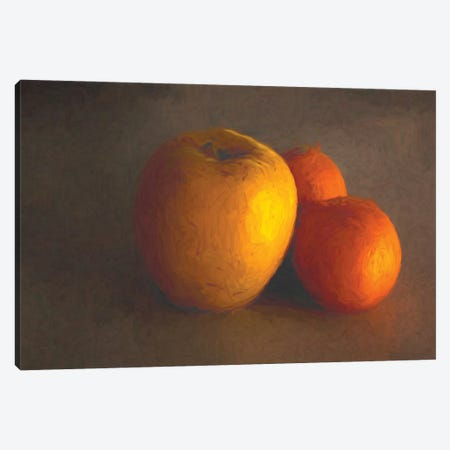 Apple And Oranges Canvas Print #AFK82} by Alison Frank Canvas Wall Art