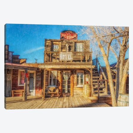 Bath House And Mane Street Hotel Canvas Print #AFK85} by Alison Frank Art Print