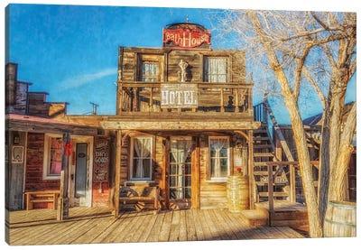 Bath House And Mane Street Hotel Canvas Art Print