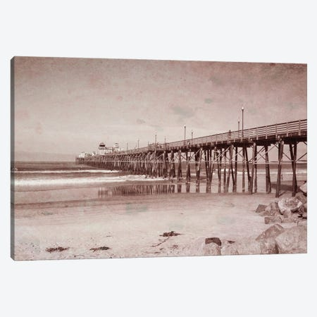 Oceanside Pier Vintage Canvas Print #AFK87} by Alison Frank Canvas Print