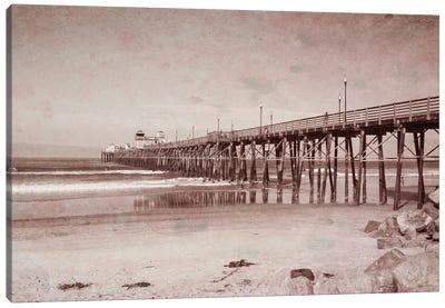 Oceanside Pier Vintage Canvas Art Print