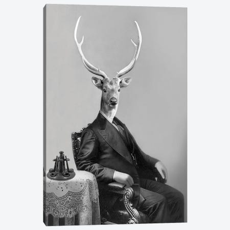 Big Buck Canvas Print #AFN12} by Animal Fancy Canvas Artwork