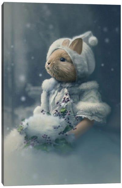 Bonnie The Snow Bunny Canvas Art Print