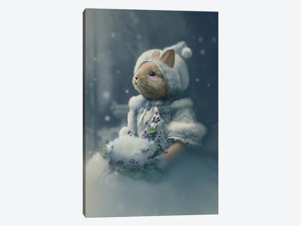 Bonnie The Snow Bunny by Animal Fancy 1-piece Canvas Print