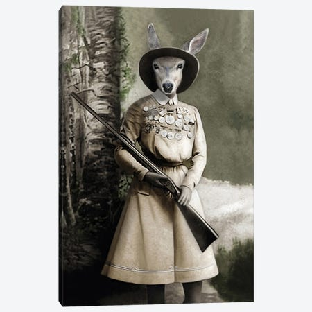 Cass The Hunter Canvas Print #AFN22} by Animal Fancy Canvas Print