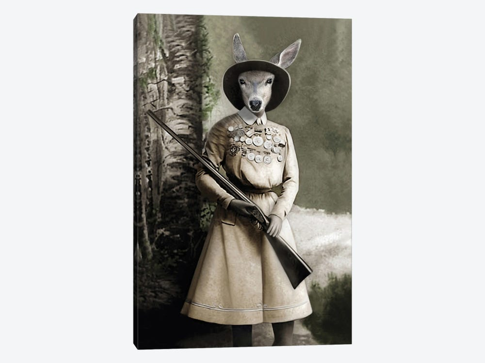 Cass The Hunter by Animal Fancy 1-piece Canvas Art Print