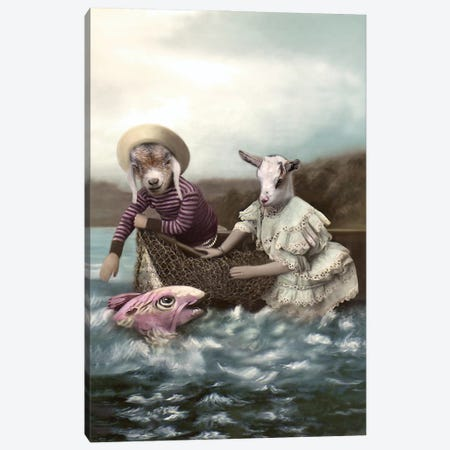 Joni And Chach Canvas Print #AFN42} by Animal Fancy Canvas Print