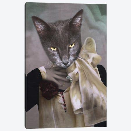 Madam Gray Canvas Print #AFN50} by Animal Fancy Canvas Artwork