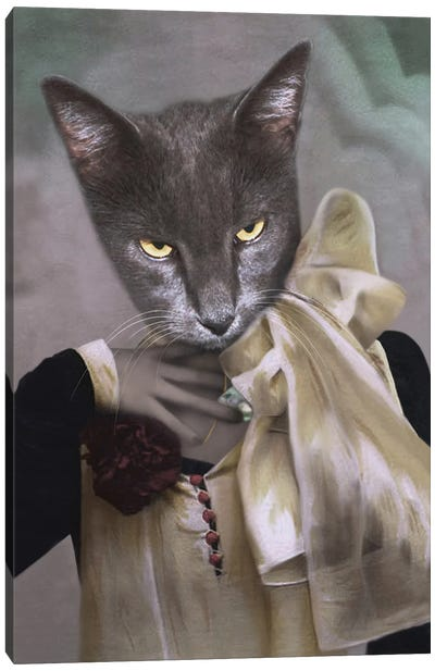 Madam Gray Canvas Art Print