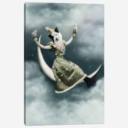 Mandy In The Moon Canvas Print #AFN51} by Animal Fancy Canvas Art