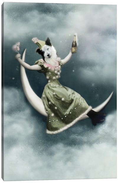 Mandy In The Moon Canvas Art Print