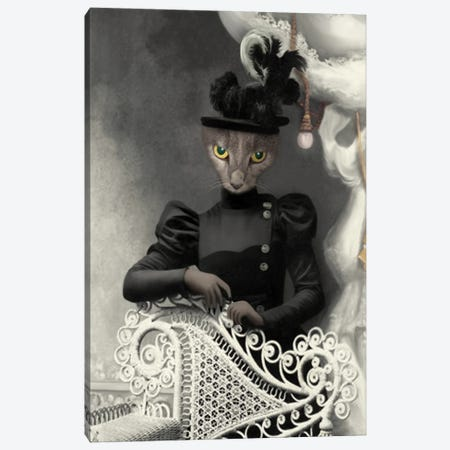 Miss Quigly Canvas Print #AFN56} by Animal Fancy Canvas Print
