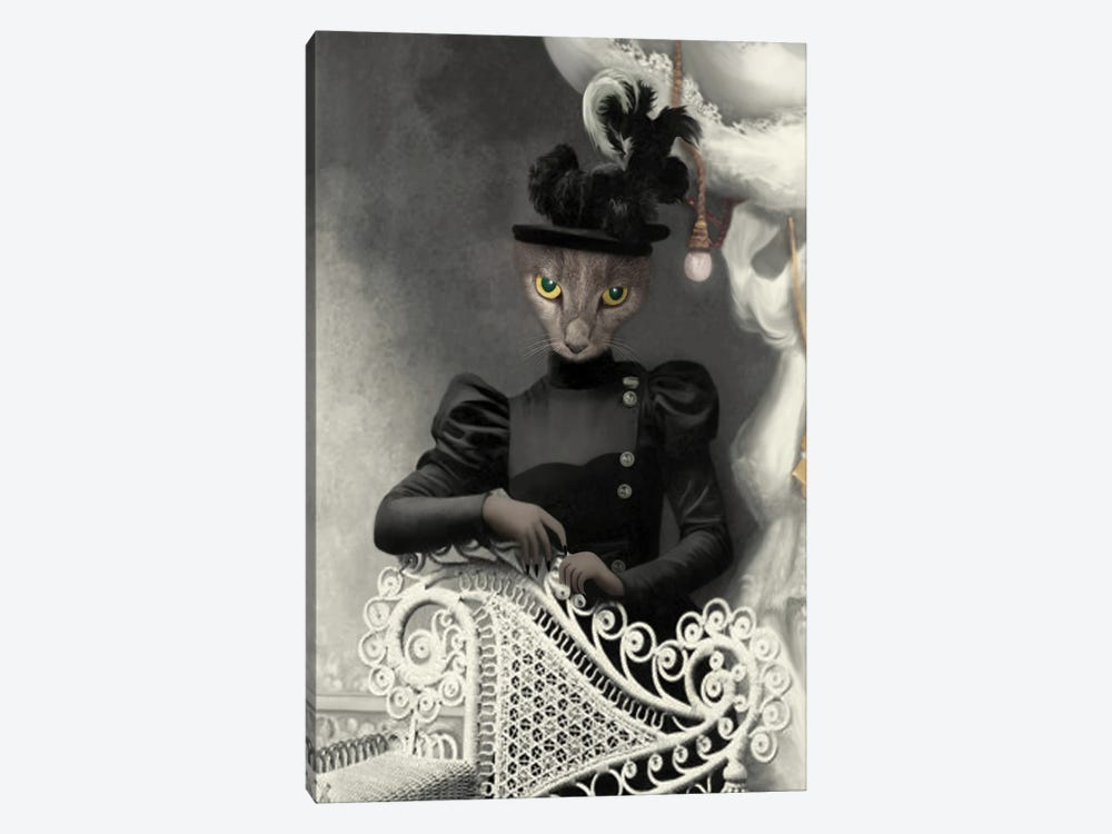 Miss Quigly by Animal Fancy 1-piece Canvas Wall Art