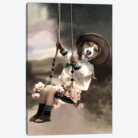 Parker Canvas Print #AFN64} by Animal Fancy Canvas Artwork