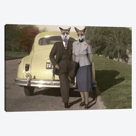 Phil And Marlo Canvas Print #AFN66} by Animal Fancy Canvas Wall Art