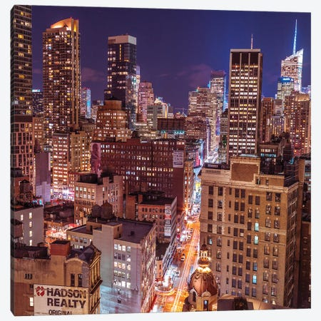 New York III 3-Piece Canvas #AFR111} by Assaf Frank Canvas Art