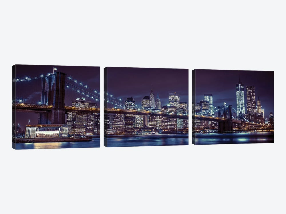New York XII by Assaf Frank 3-piece Canvas Art Print