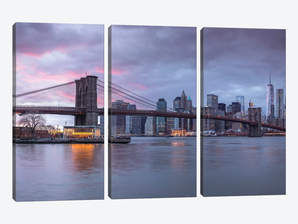New York XVI 3-piece Canvas Art Print