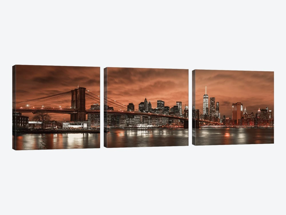 New York XIX by Assaf Frank 3-piece Canvas Wall Art
