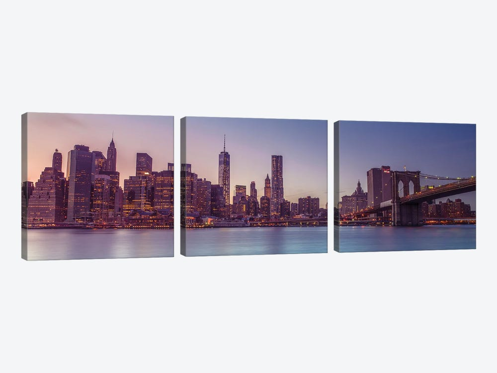 New York XXII by Assaf Frank 3-piece Canvas Wall Art