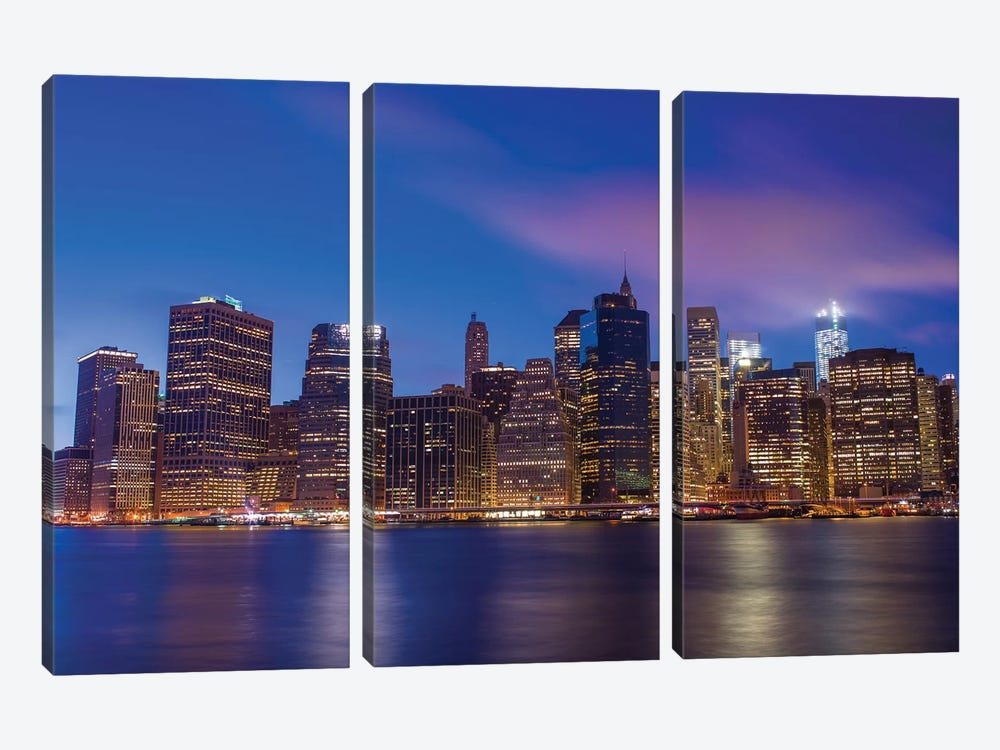 New York XXIII by Assaf Frank 3-piece Canvas Print