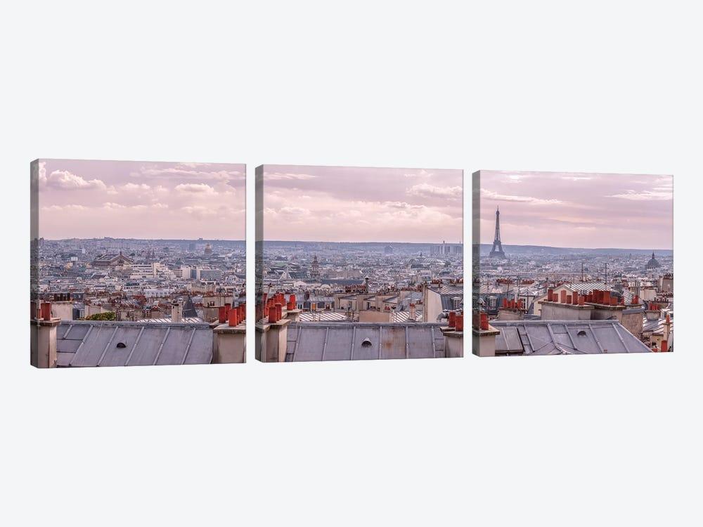 Paris I by Assaf Frank 3-piece Canvas Art