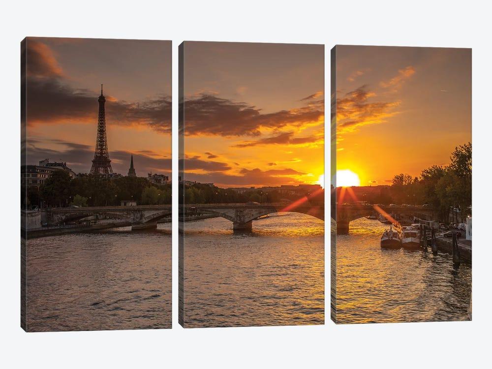 Paris V by Assaf Frank 3-piece Canvas Art Print