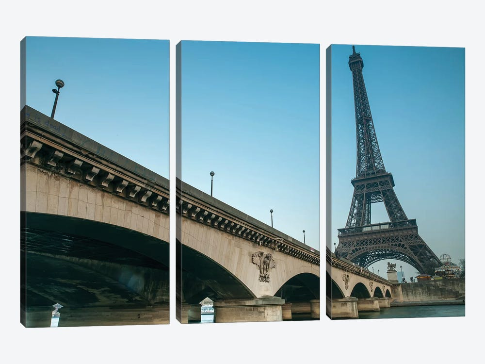 Paris VI by Assaf Frank 3-piece Canvas Wall Art