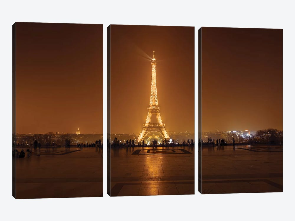 Paris XVII by Assaf Frank 3-piece Canvas Artwork