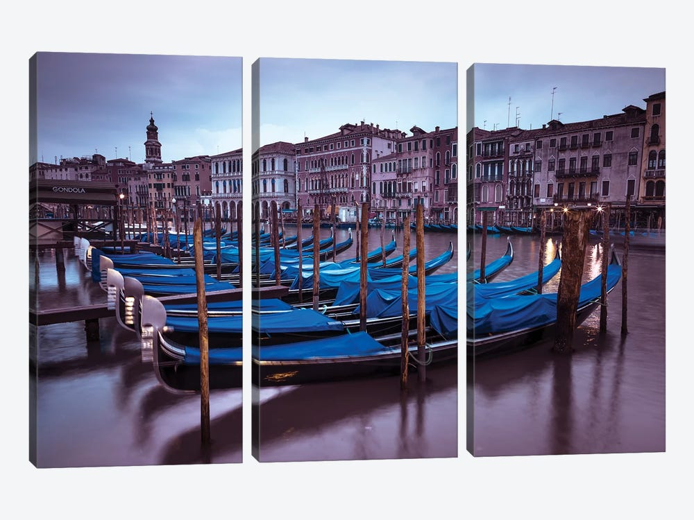 Venice XVI by Assaf Frank 3-piece Canvas Artwork