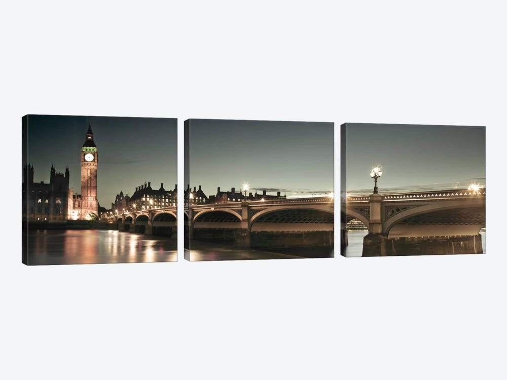 London Lights by Assaf Frank 3-piece Canvas Artwork
