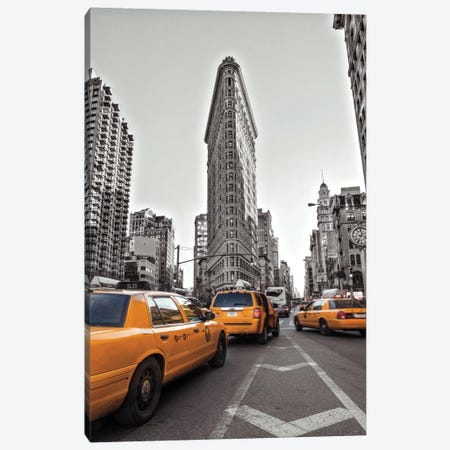 New York Taxis Canvas Print #AFR31} by Assaf Frank Canvas Art
