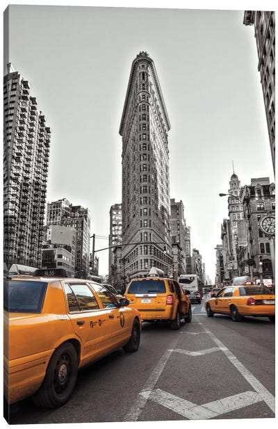 New York Taxis Canvas Art Print
