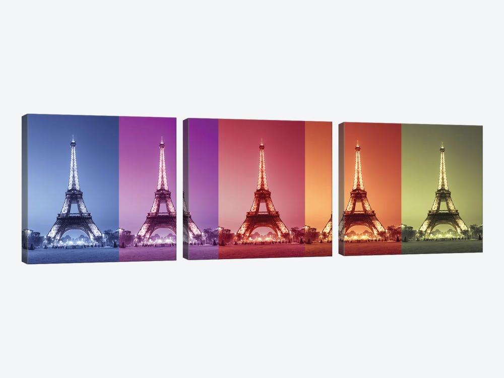 Paris Colors by Assaf Frank 3-piece Canvas Art Print