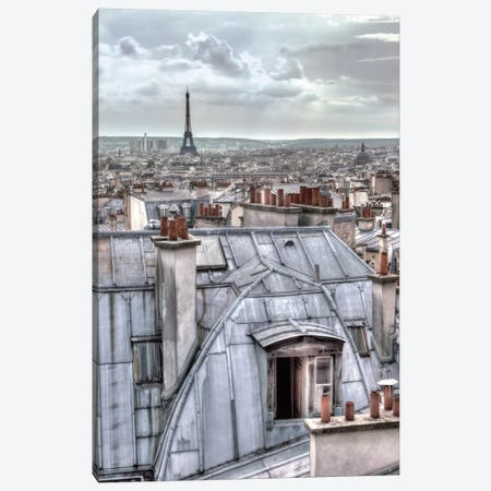 Paris Rooftops Canvas Print #AFR35} by Assaf Frank Canvas Print