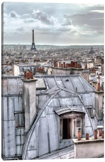 Paris Rooftops Canvas Art Print