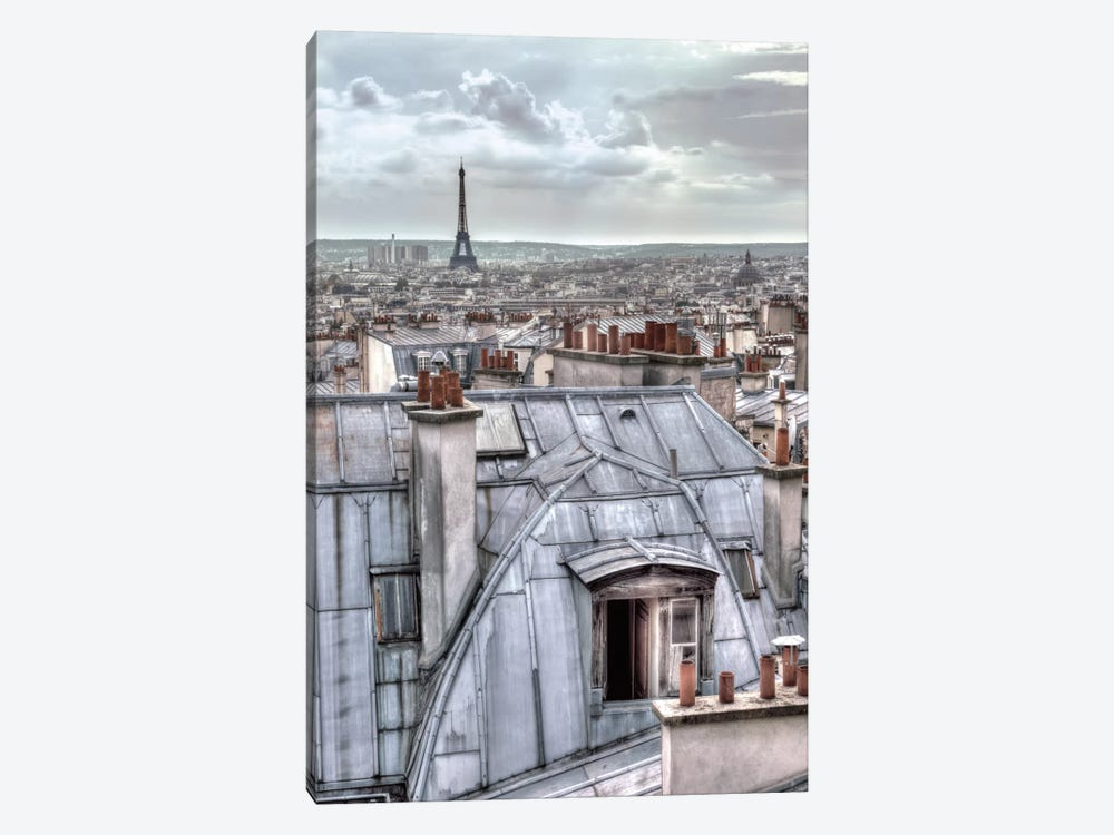 Paris Rooftops 1-piece Canvas Wall Art