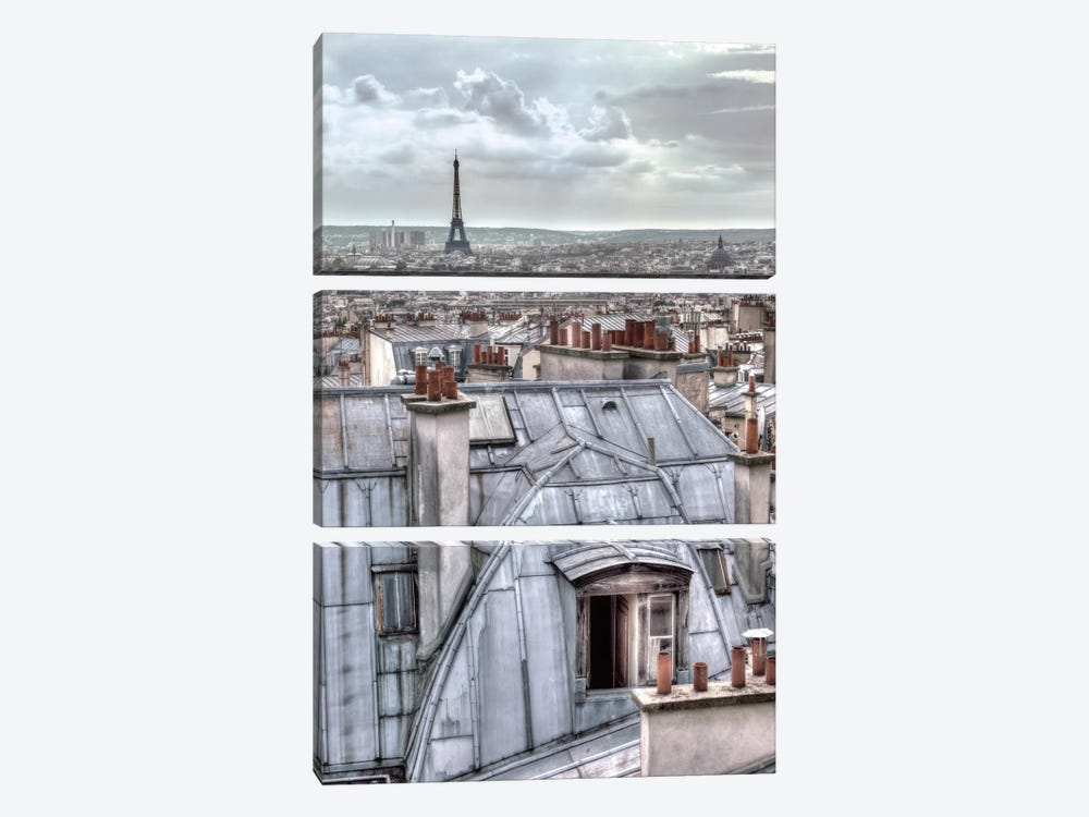 Paris Rooftops 3-piece Canvas Art