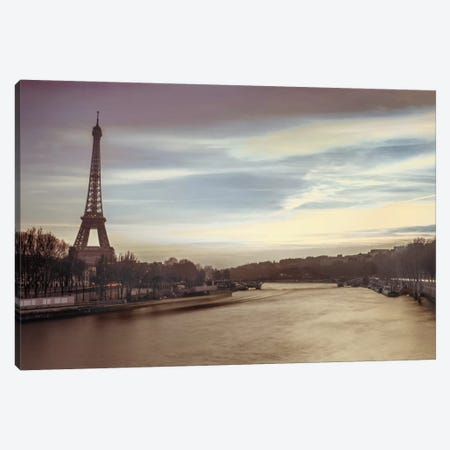 Paris Sunset Canvas Print #AFR36} by Assaf Frank Canvas Art Print