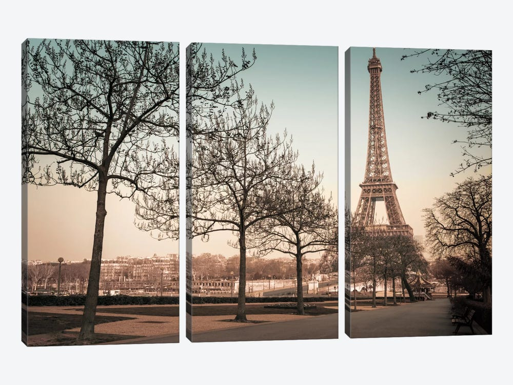 Remembering Paris 3-piece Canvas Art Print
